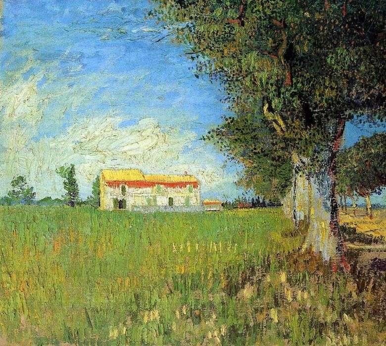 Casa de campo de trigo   Vincent van Gogh