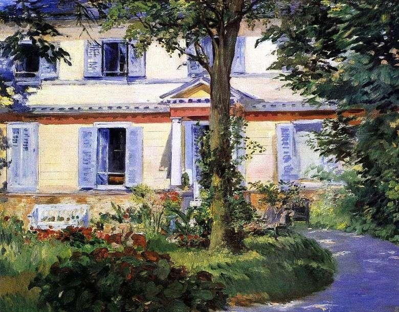 Casa en Ruel   Edouard Manet