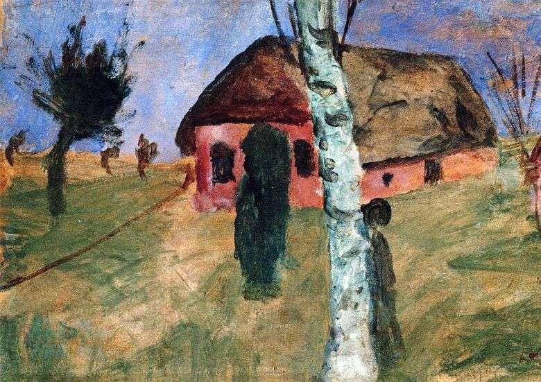 Casa Roja y Abedules   Paula Modersohn Becker