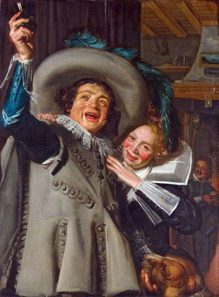 Cavalier Ramp y su amante   Frans Hals