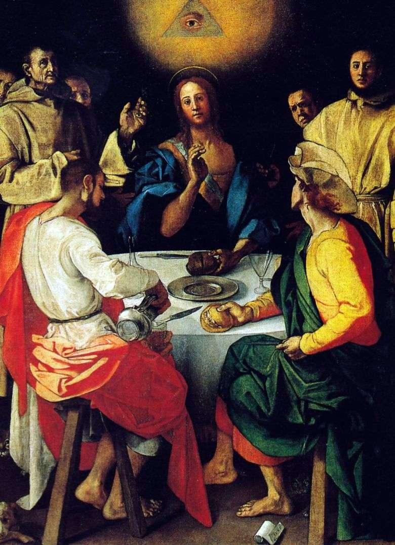 Cena en Emaús   Pontormo