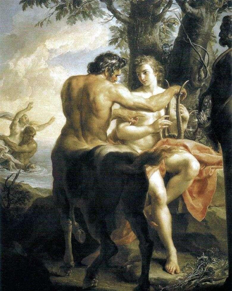 Centauro Quirón enseñando a Aquiles   Pompeo Batoni