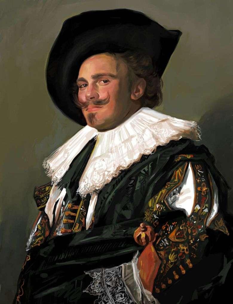 Chevalier sonriente   Frans Hals