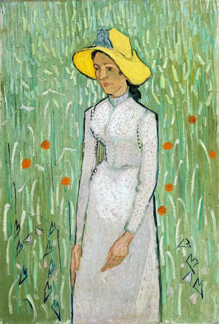 Chica de Blanco   Vincent Van Gogh