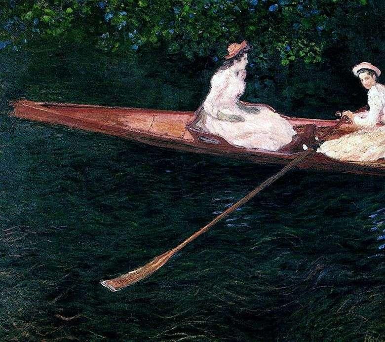 Chicas navegando en un bote por el río Ept   Claude Monet