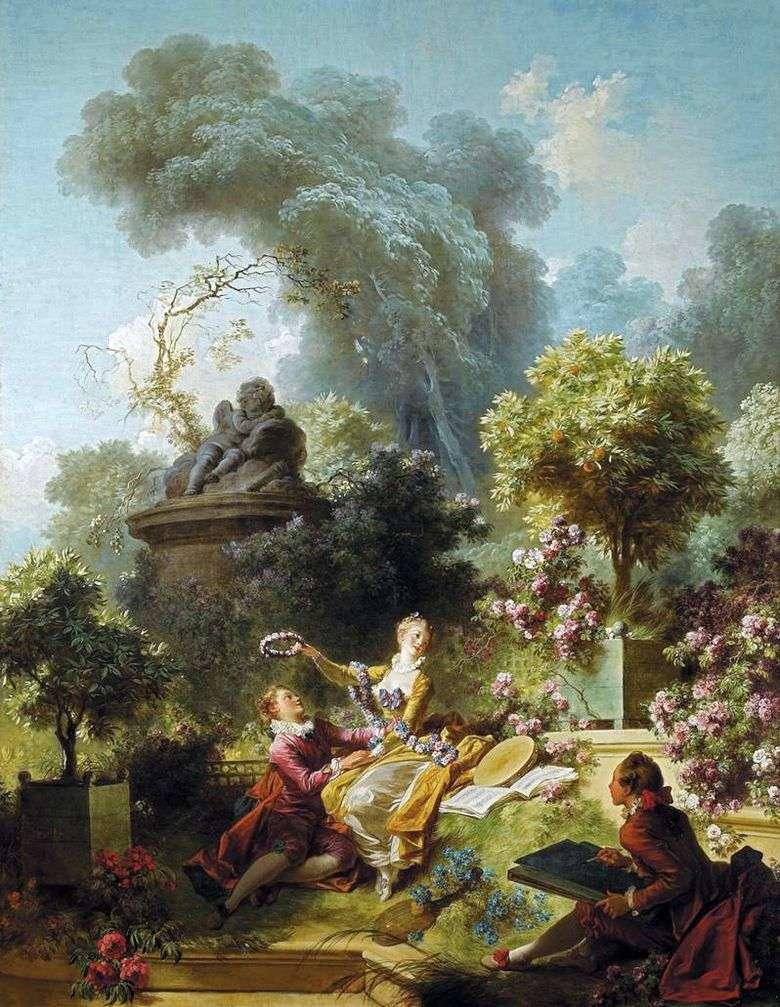 Corona para el amado   Jean Honore Fragonard