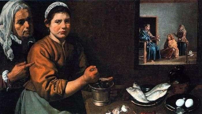Cristo en la casa de Marta y María   Diego Velásquez