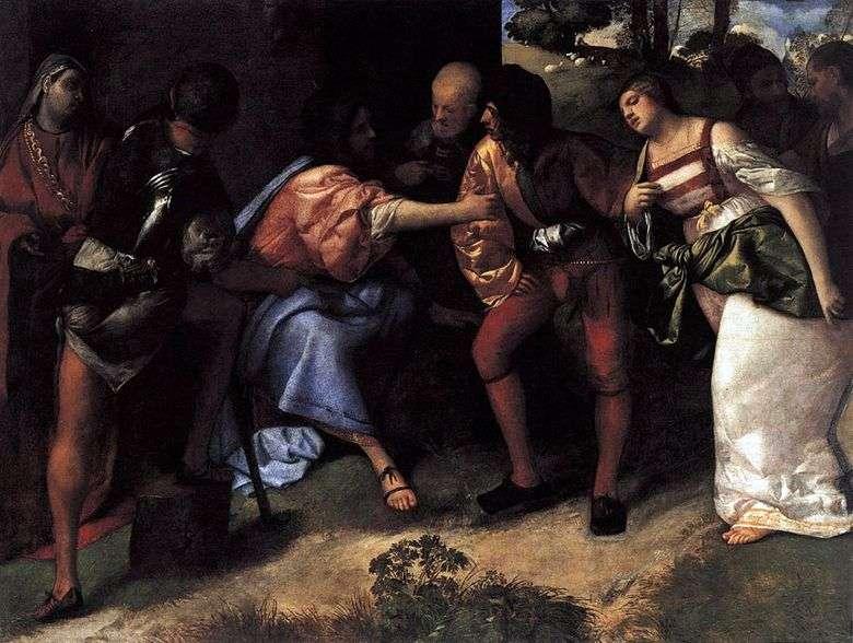 Cristo y el cónyuge infiel Titian Vecellio