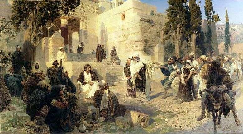 Cristo y el pecador   Vasily Polenov
