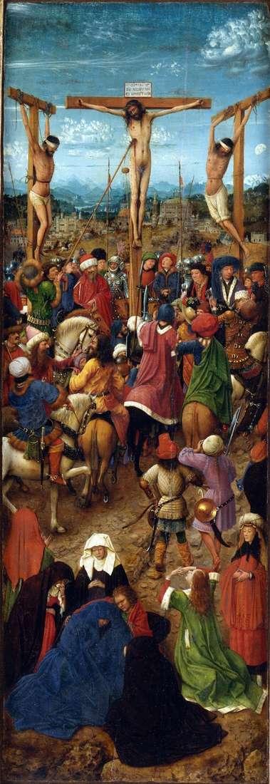 Crucifixion Díptico Persiana izquierda   Jan van Eyck
