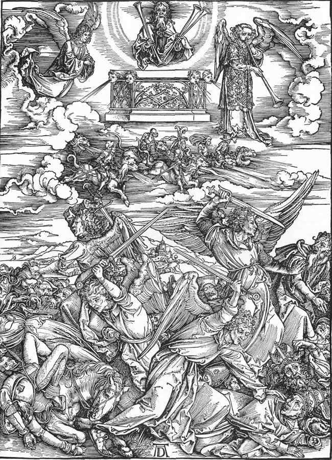 Cuatro ángeles de la muerte   Albrecht Durer