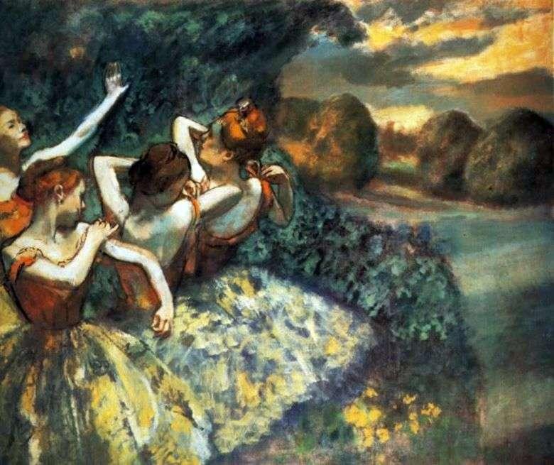 Cuatro bailarines   Edgar Degas