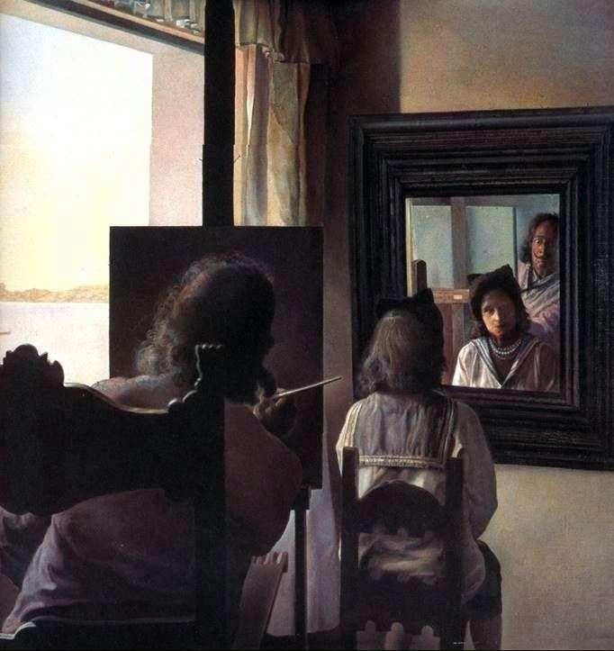 Dali, dándole la espalda, escribió un retrato de Gala   Salvador Dali