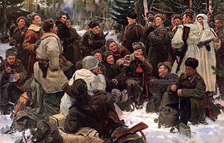 Descansa después de la pelea   Yuri Neprintsev