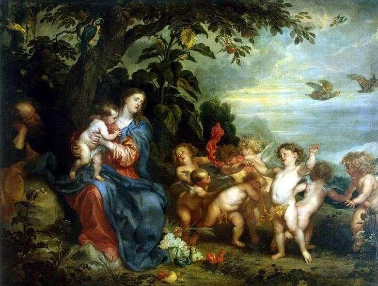 Descansa en el vuelo a Egipto   Anthony Van Dyck