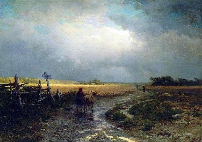 Después de la lluvia Camino rural   Fedor Vasilyev