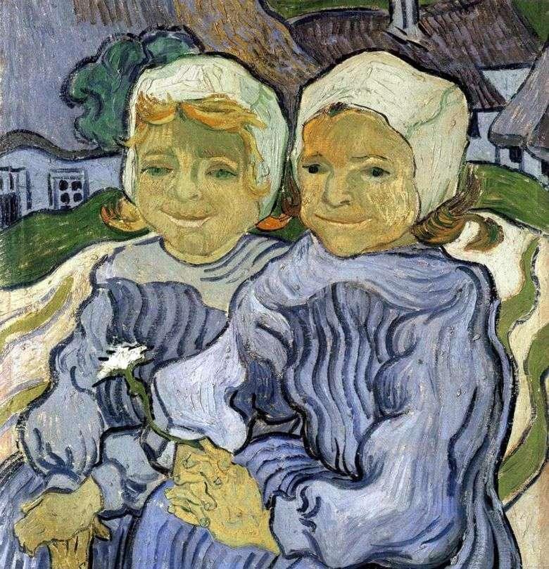 Dos niños   Vincent van Gogh