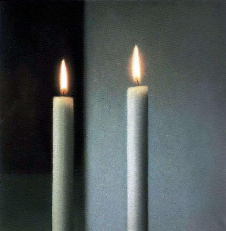 Dos velas   Gerhard Richter
