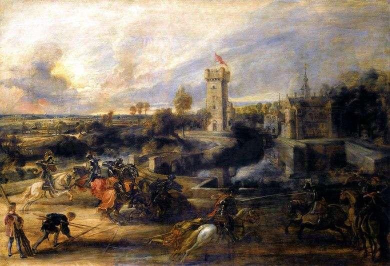 Duelo ante el castillo Stan   Peter Rubens