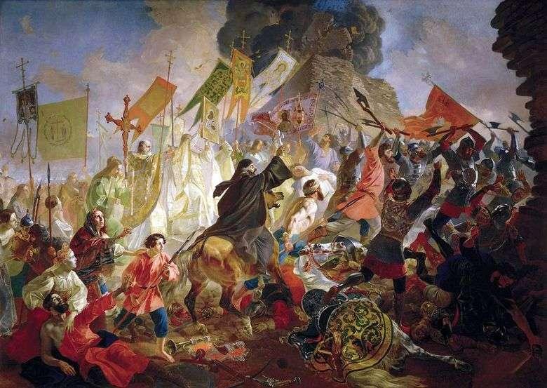 El asedio de Pskov   Karl Bryullov