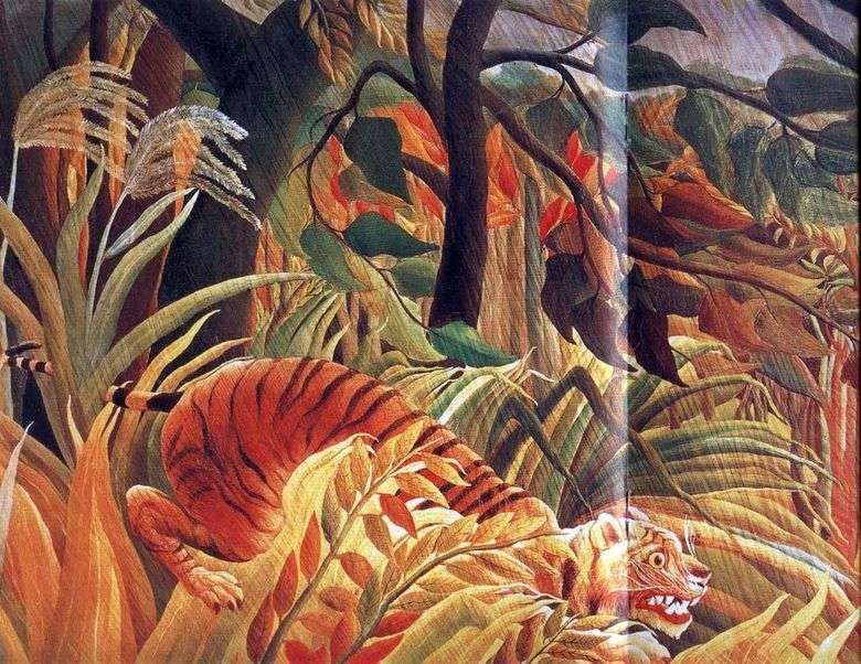 El ataque en la selva   Henri Rousseau