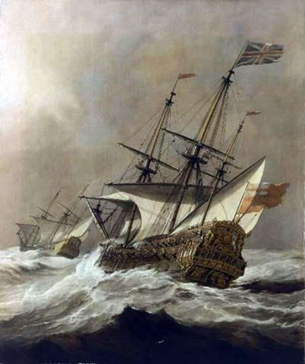 El barco en la tormenta   Willem van de Velde