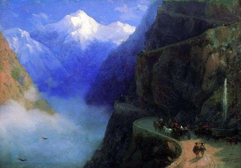 El camino de Mljet a Gudaura   Ivan Aivazovsky