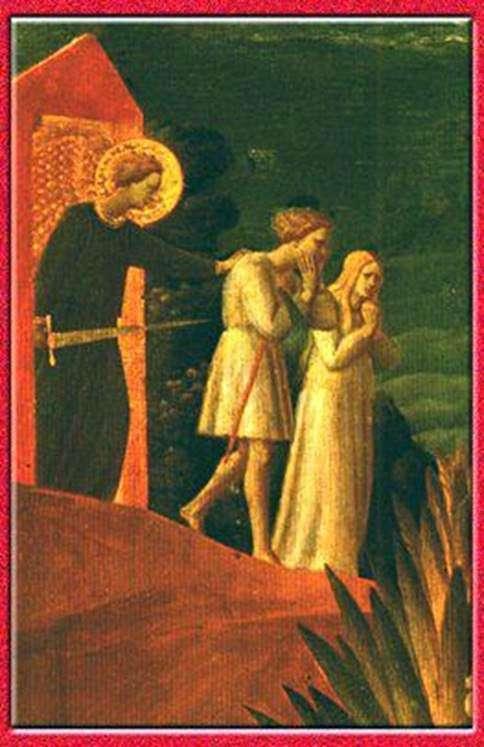 El exilioFresco Iglesia de Juan el Bautista en Roshchenie   Fra Beato Angelico