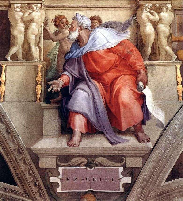 El profeta Ezequiel (fresco)   Michelangelo Buonarroti