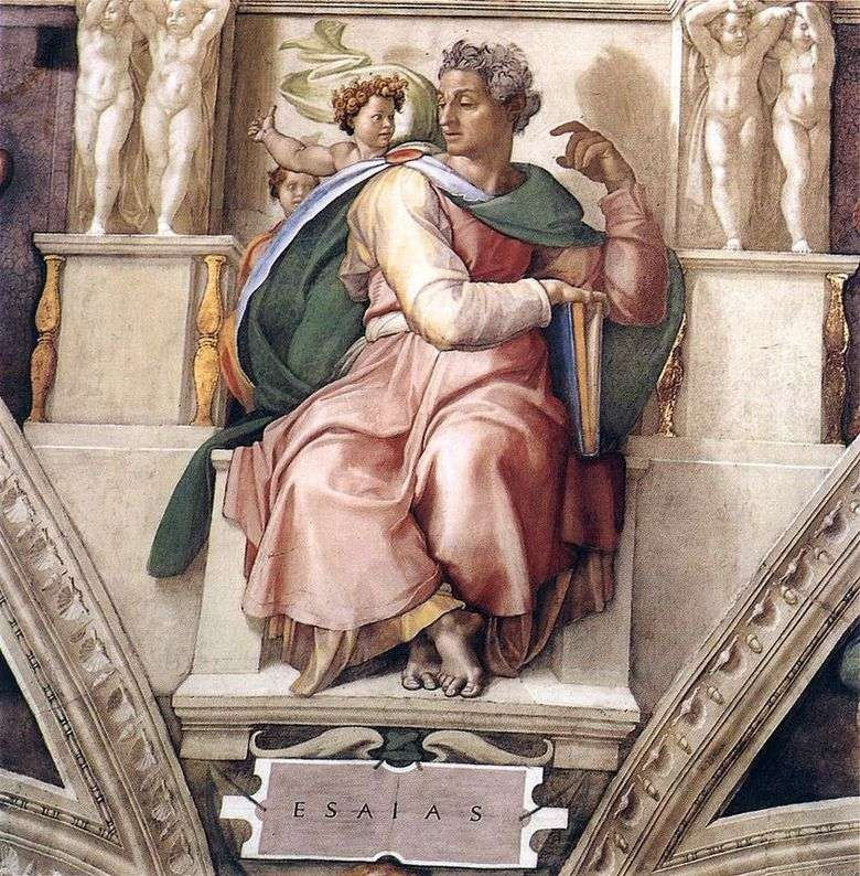 El profeta Isaías (fresco)   Michelangelo Buonarroti