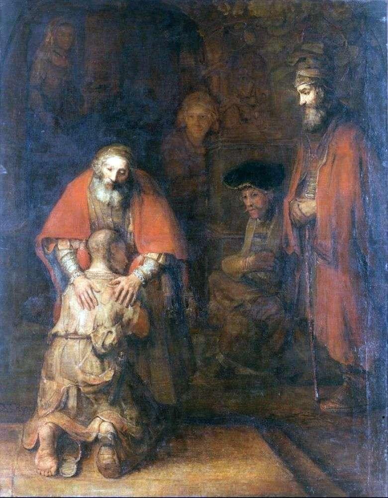 El regreso del hijo pródigo   Rembrandt Harmens Van Rhine