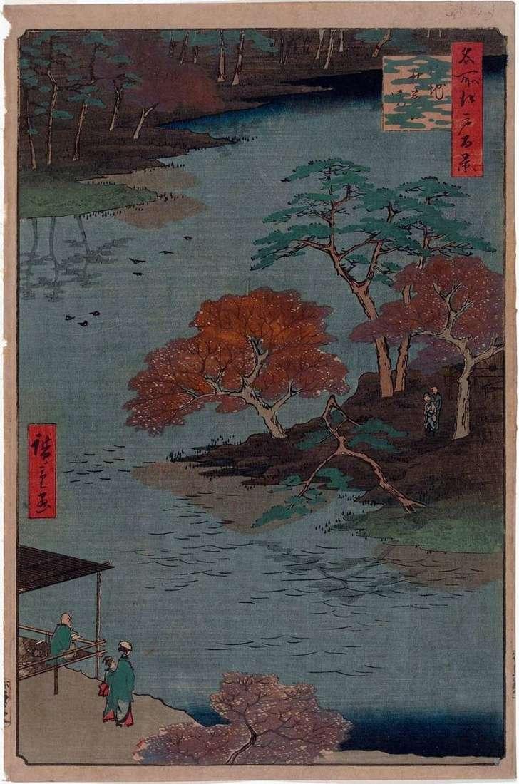 El territorio del santuario de Akiba en Ukati   Utagawa Hiroshige