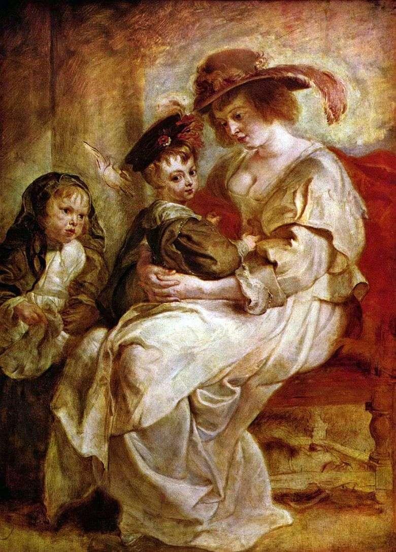 Elena Fourman con los niños Claire Jeanne y Francois   Peter Rubens