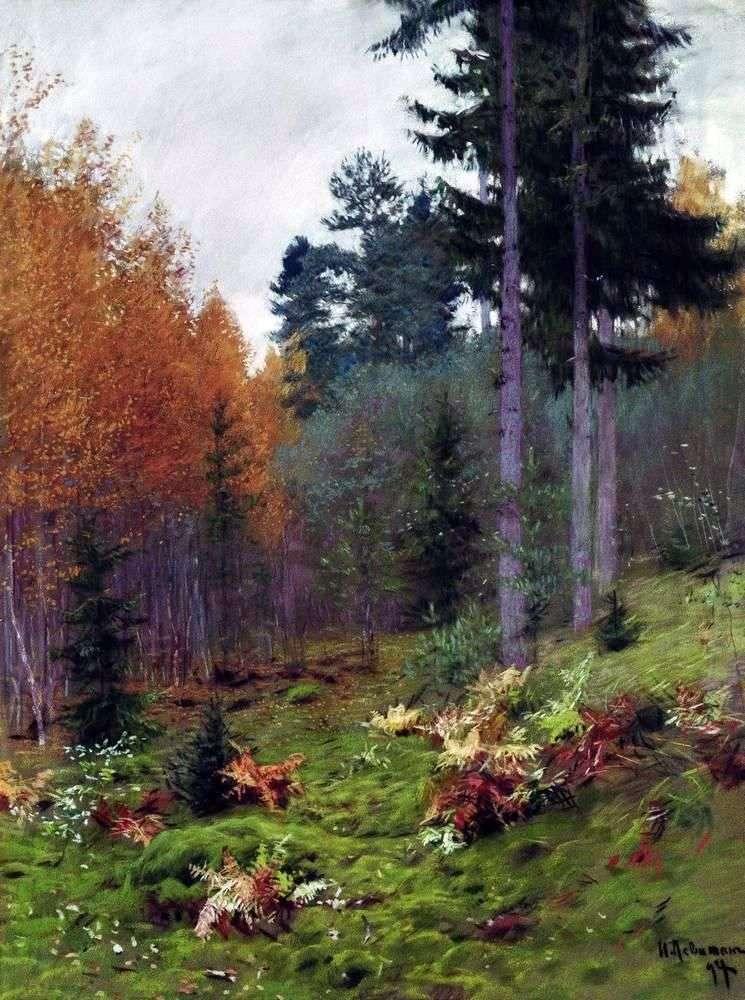 En el bosque en otoño   Isaac Levitan