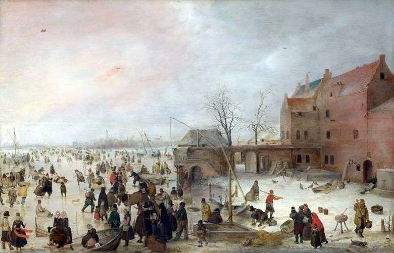 En el hielo en las murallas de la ciudad   Hendrik Averkamp
