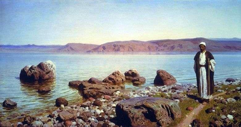 En el lago de Tiberíades (Genisaret)   Vasily Polenov