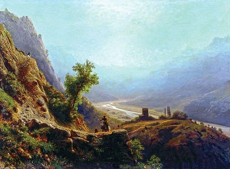 En las montañas del Cáucaso   Lev Lagorio