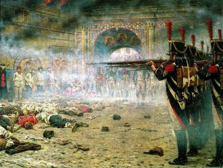 En Moscú conquistada (incendiarios o Disparos en el Kremlin)   Vasily Vereshchagin