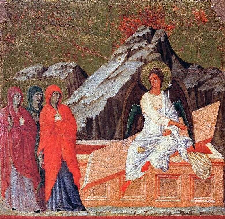 Esposas portadoras de mirra en el Santo Sepulcro   Duccio di Buoninsegna