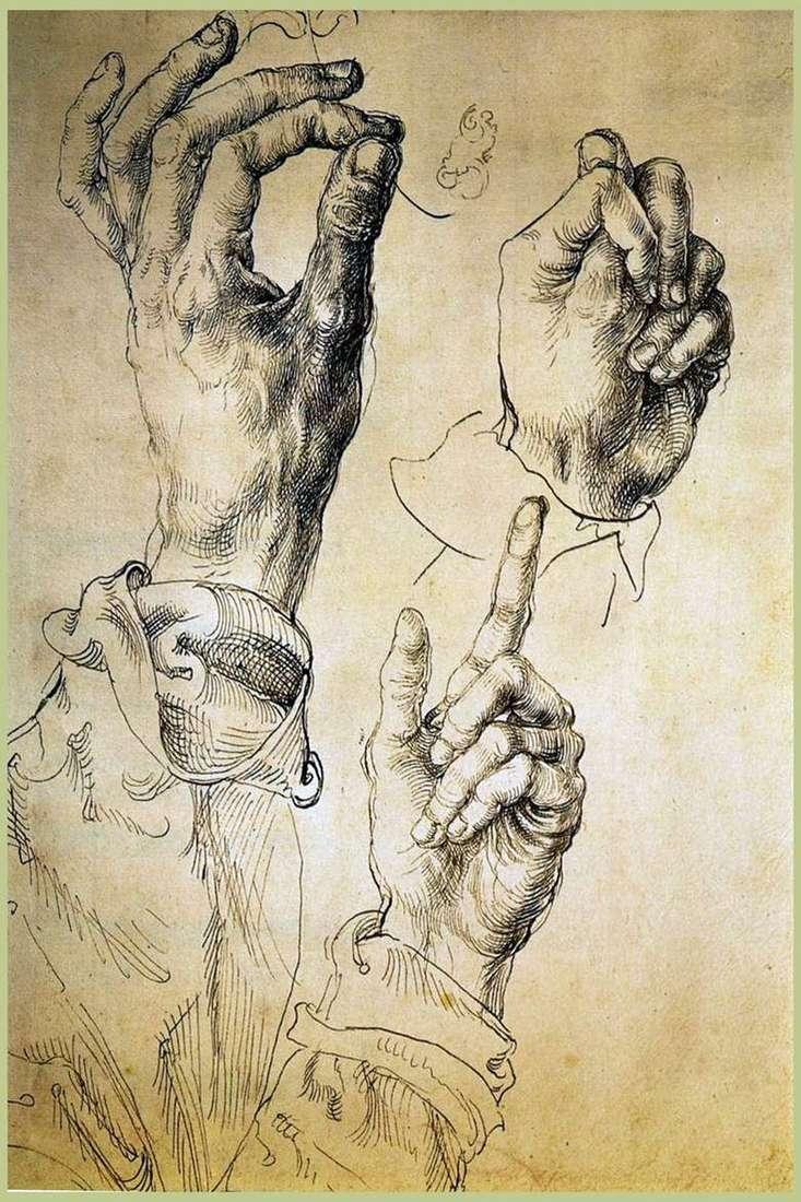 Etude Tres manos   Albrecht Durer