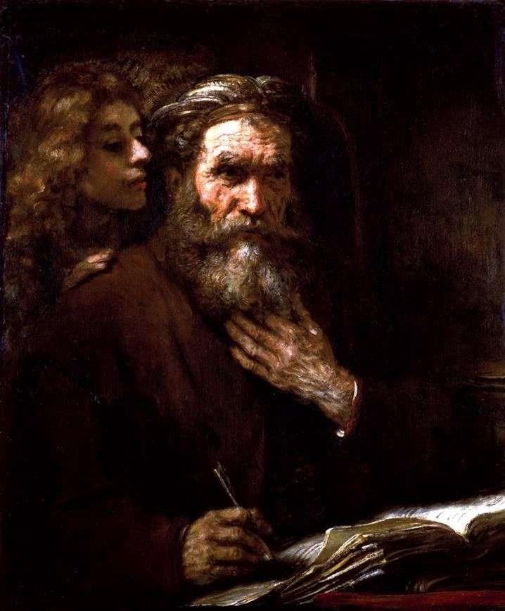 Evangelista Mateo y Ángel   Rembrandt Harmens Van Rhine