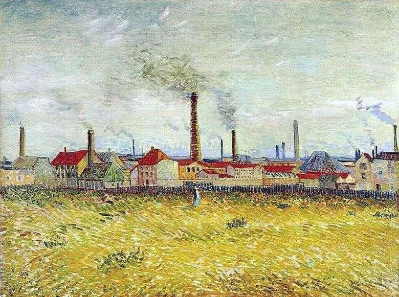 Fábricas en Anyer, vista desde las afueras de Clichy   Vincent van Gogh