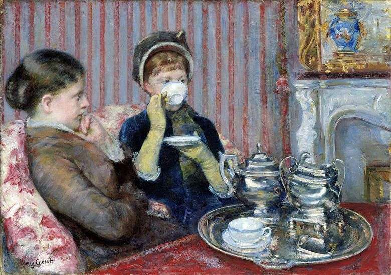 Fiesta del té   Mary Cassat