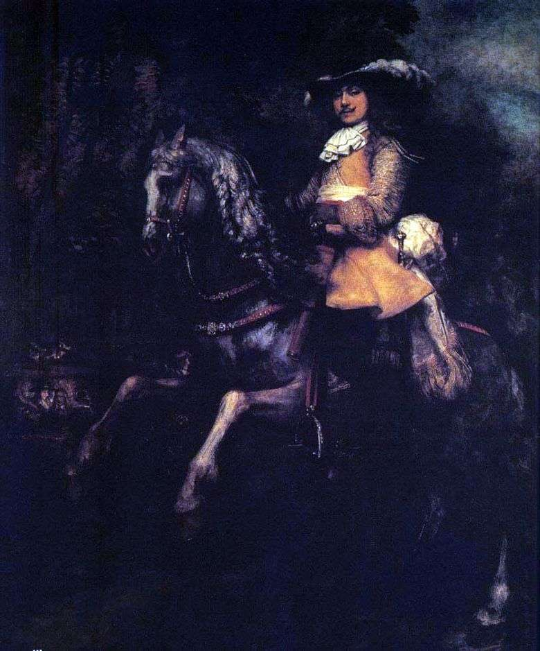 Frederick Riel a caballo   Rembrandt Harmens Van Rhine