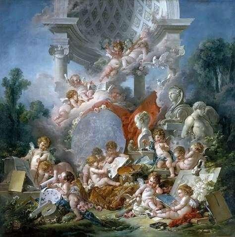 Boucher El Bano De Diana.Genios Del Arte Francois Boucher