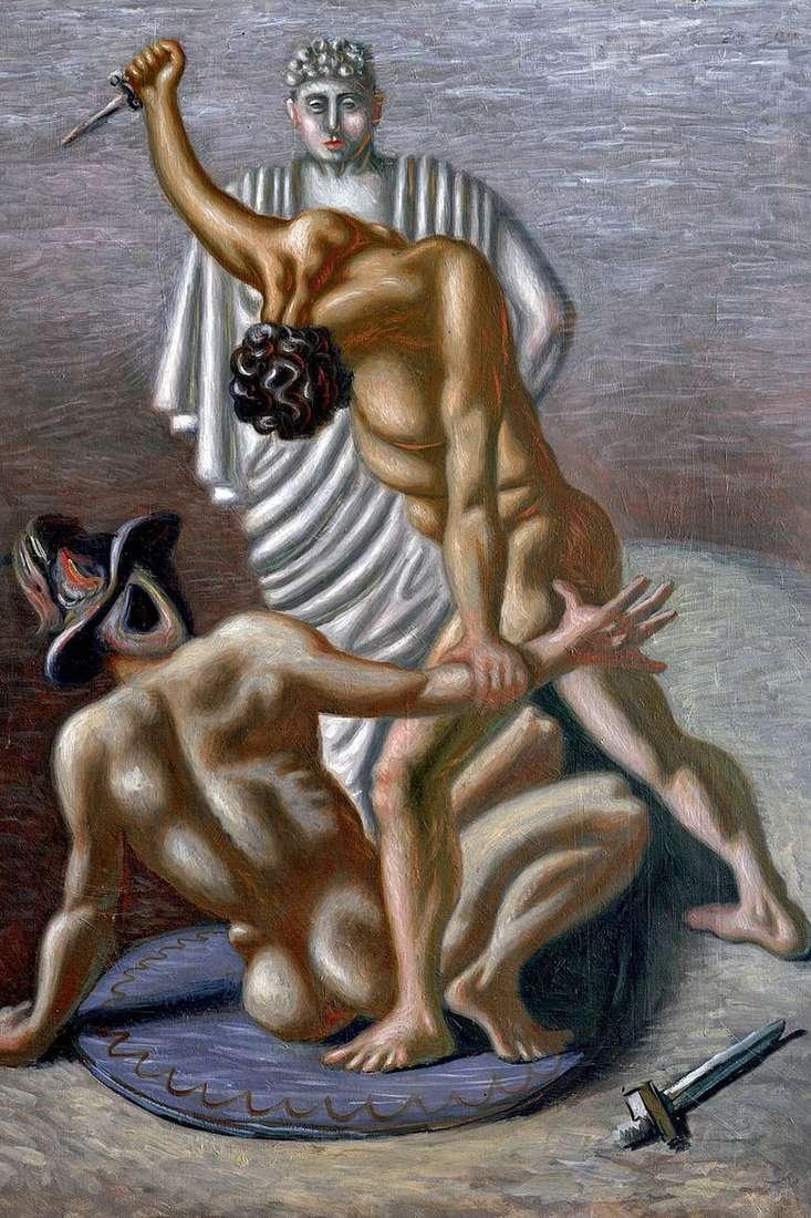 Gladiadores   Giorgio de Chirico