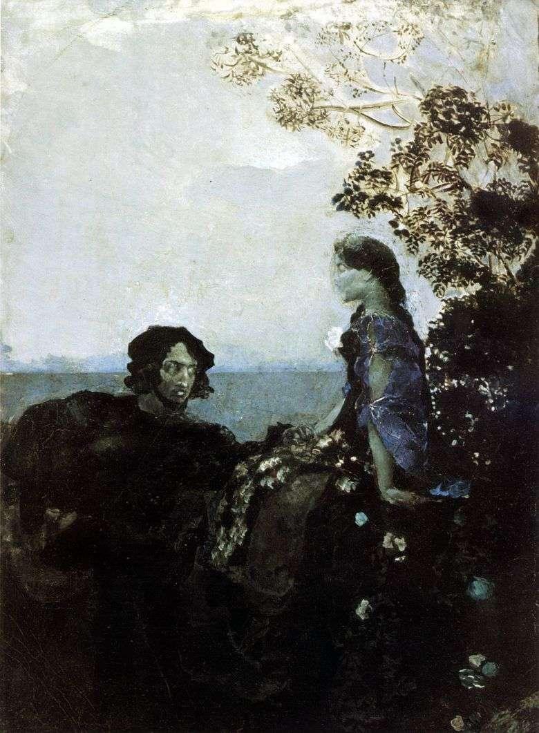 Hamlet y Ofelia   Mikhail Vrubel