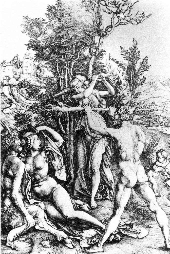 Hércules en la encrucijada. Grabado   Albrecht Durer