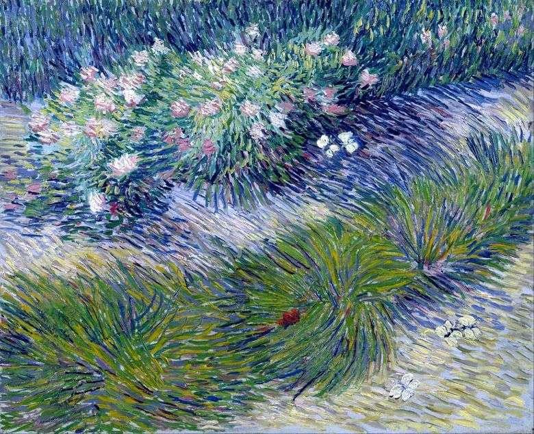 Hierba y mariposas   Vincent van Gogh