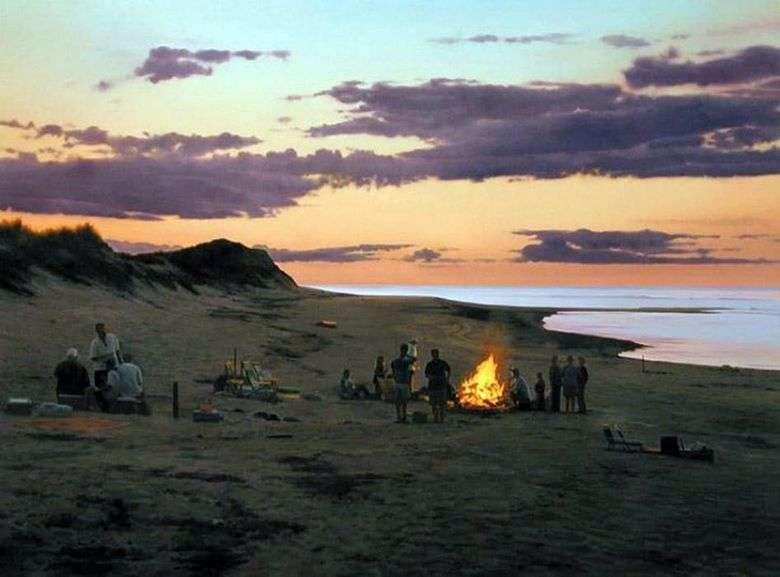 Hoguera en la playa   Scott Pryor